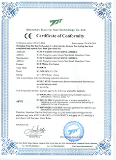 Certificate: The European CE certification, product: WISDOM brand KL5M, KL8M, KL12M miner's cap lamp with cable