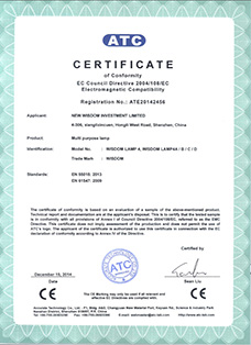 Certificate: The European CE certification, product: WISDOM brand Lamp 4A, 4B, 4C, 4D all in one multi purpose headlamps