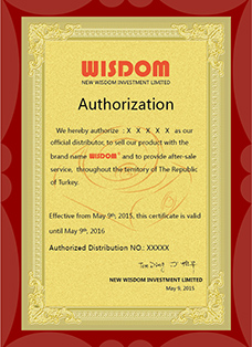 WISDOM distributor authorization in English