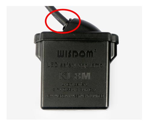 The original WISDOM: Battery box lead without rubber sheath