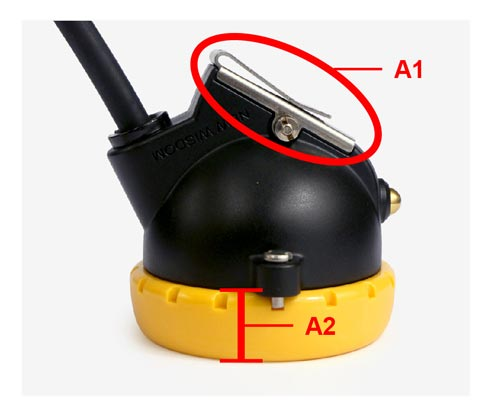The original WISDOM: cap lamp clip is made of stainless steel; the head lamp cover is much more narrow