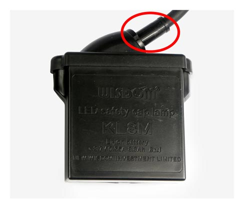The fake: Battery box lead with rubber sheath