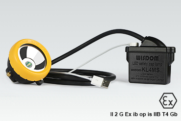 WISDOM miner's cap lamp with cable: KL4MS
