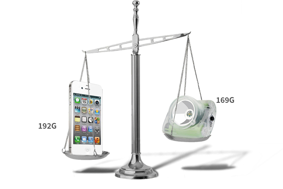 Lighter than iPhone 4S. Models Lamp 3C and 3D just weigh 125g each!!!