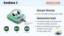 WISDOM Slide: Headlamp & Miner's Cap Lamp - Cordless2 charger warning illumination angle