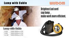WISDOM Slide: Miner's Cap Lamp with Cable Poster